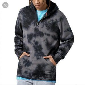 Neff sherp hoodie sweatshirt black tie dye